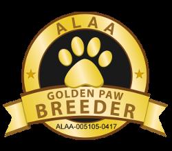 Healing Hearts Labradoodles ALAA Golden Paw Logo - Copy (2)