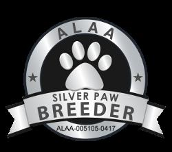 Healing Hearts Labradoodles ALAA Silver Paw Logo - Copy (2)